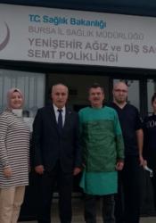 Davut Aydın'dan Yenişehir Semt Polikliniği'ni ziyaret etti