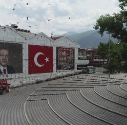 Kısıtlamanın son günü Bursa havadan görüntülendi
