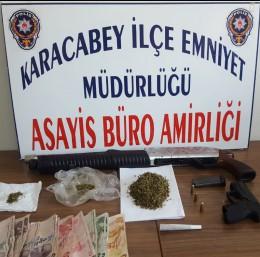 Karacabey'deki uyuşturucu operasyonunda 2 tutuklama
