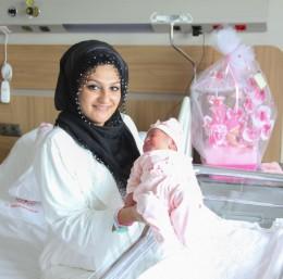 Bursa Şehir Hastanesi'nin ilk bebeğine hediye