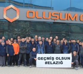 Fabrika çalışanları yardım erzaklarını Elazığ'a gönderdiler