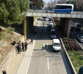 İnegöllü sürücü Bursa'da hayatının şokunu yaşadı