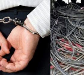 Çaldıkları kabloları lüks ciple taşımışlar