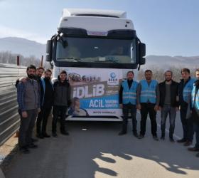 İnegöl'den İdlib'e yardım