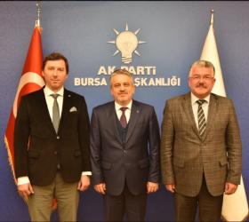 Mustafa Ersan ilçe başkanlığı görevini devreti