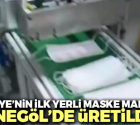 Türkiye'nin ilk yerli maske makinesi İnegöl'den