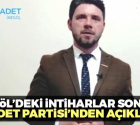 İnegöl'deki intiharlar sonrası Saadet Partisi'nden açıklama