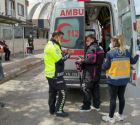 Şebboy Caddesi'nde kaza; 1 yaralı
