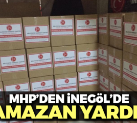 MHP'den İnegöl'de ramazan yardımı