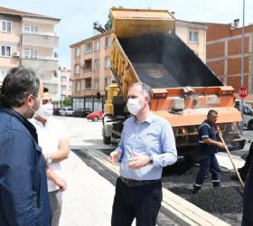 İnegöl Belediyesi'nden asfaltlama çalışması