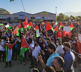 1500 araçlı Kudüs'e destek konvoyu