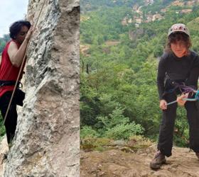 İnegöllü dağcılar Oylat kayasına tırmandı