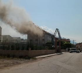 İnegöl'de öğrenci yurdunda yangın paniği