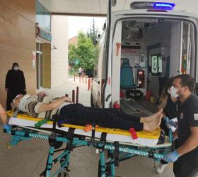3. kattan düştü ağır yaralandı