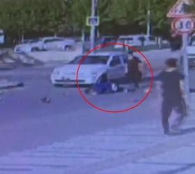 İnegöl'de dehşet veren kaza kameraya yansıdı