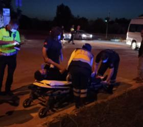 Cerrah kavşağında kaza 1 yaralı