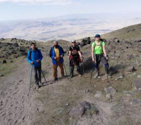 İnegöllü dağcılar Ağrı'nın zirvesinde
