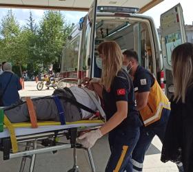 Yaşlı adam kazada yaralandı