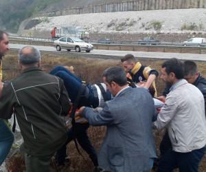 Mezitlerde korkutan kaza;3 yaralı