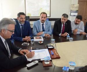 Roman başkanlardan Kaymakam Akça'ya ziyaret