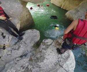 Bursalı dağcıların Antalya'da Köprülü ve Tazı Kanyonu geçişi komandoları aratmadı
