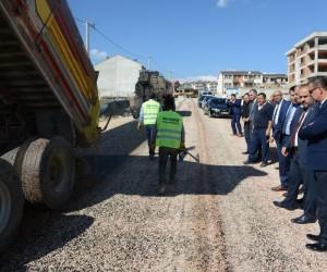 Alanyurt'ta asfalt çalışmaları sürüyor