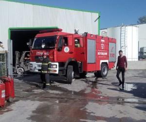 Boya fabrikasındaki yangın korkuttu
