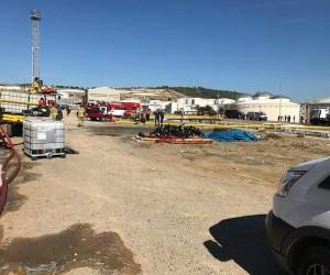 Patlamanın ardından bilirkişi heyeti ve müfettişler bölgede