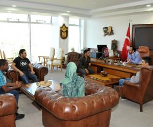 Uluslararası öğrencilerden ADÜ Rektörü Bircan'a teşekkür ziyareti