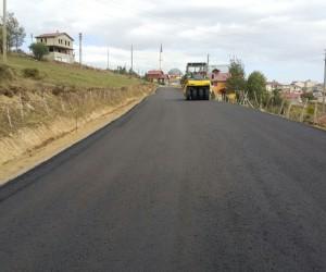 Çambaşı Yaylası'nın yolları asfaltlanıyor