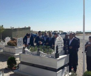 Ergani'de 15 Temmuz şehidi mezarı başında anıldı
