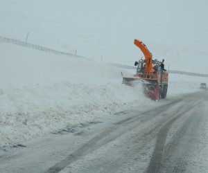 Ardahan-Posof karayolunda kar ve tipi: Onlarca tır mahsur kaldı