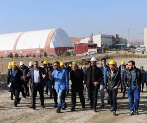 Mühendis adayları, asfalt plent tesislerini gezdi