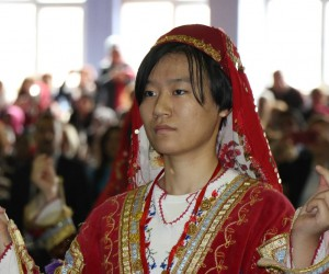 Çinli öğrencilerden Zonguldak yöresine ait halkoyunu