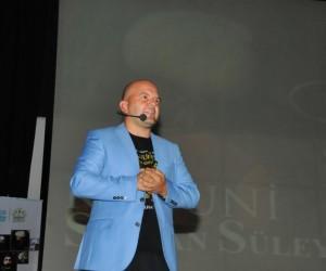 Yazar Talha Uğurluel Akşehir'de Kanuni'yi anlattı