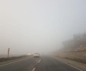 İnegöl güne sisle uyandı
