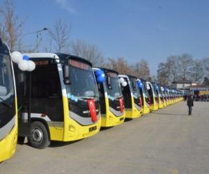 İnegöl'deki yeni otobüslerin tanıtımı yapıldı