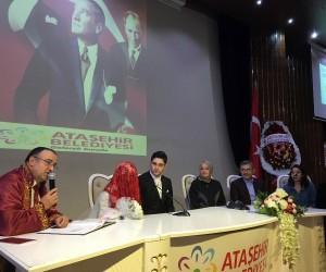 Bakan Kaya, 15 Temmuz Gazisi Eren Kartal'ın nikah şahidi oldu