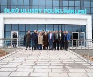 Başkan Duruay Ülkü Ulusoy Poliklinik binasını gezdi