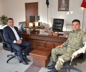 Başkan Bakıcı Garnizon Komutanı Yüzbaşı Günhan'a nezaket ziyaretinde bulundu