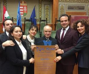 Macaristan Pecs Üniversitesi'nden İsmet Güral'a fahri doktora