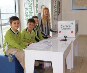 Çamlıca Okullarında seçim heyecanı