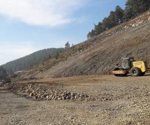 Gedikler göleti inşaatı devam ediyor