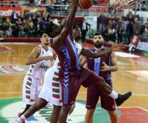Tahincioğlu Basketbol Süper Ligi: Pınar Karşıyaka: 79 - Trabzonspor: 78