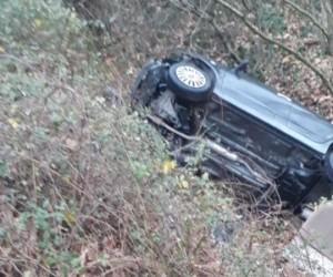 Mezitlerde kaza 3 yaralı