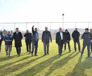 Hamzabey Futbol Sahasına Soyunma Odaları Yapılıyor