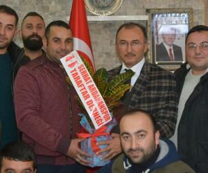 Serhat Ardahanspor Taraftar Derneği Başkan Köksoy'u ziyaret etti