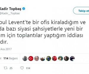 Kadir Topbaş'tan yeni oluşum iddialarına yalanlama
