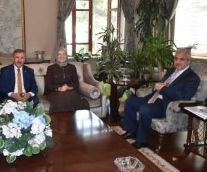 Vali Güvençer, eski Bakan Ramazanoğlu'nu ağırladı