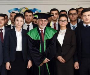 Afganistan Cumhurbaşkanı Gani'ye Özbekistan'da fahri doktora unvanı